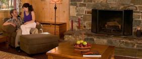 Couple Relaxing at Elkins Resort on Priest Lake