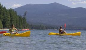 Kayaking on Priest Lake near Elkins Resort