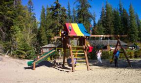Playground at Elkins Resort on Priest Lake