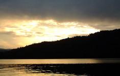 Sunset on Priest Lake
