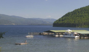 Docks at Elkins Resort of Priest Lake