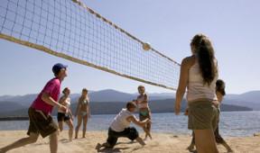 Beach volleyball at Elkins Resort