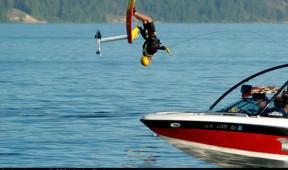 Water fun on Priest Lake near Elkins Resort