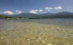The clear water of Priest Lake near Elkins Resort