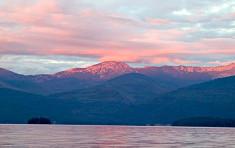 Sunset over Priest Lake from Elkins Resort