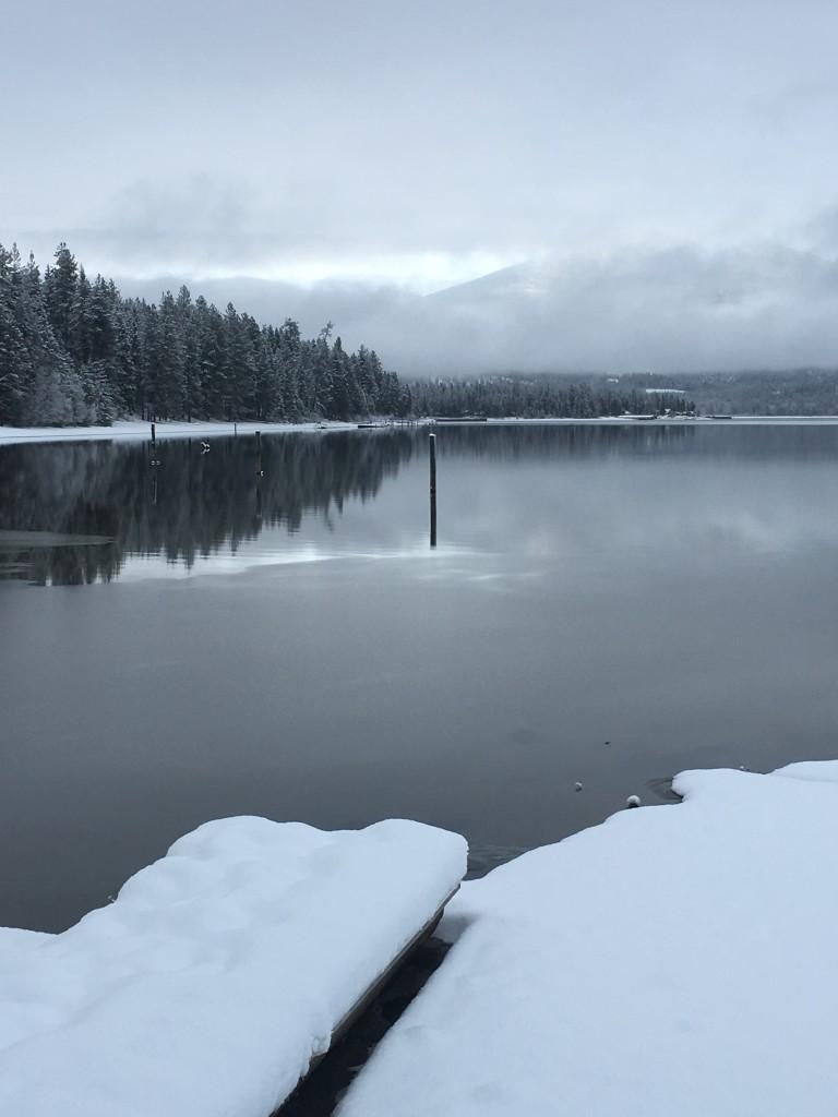 Winter at Priest Lake, photo by Elkins Resort