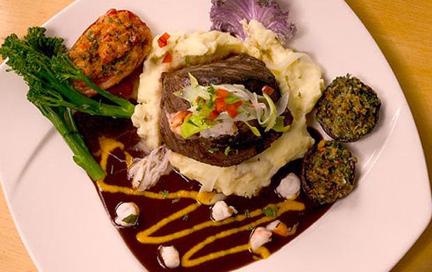 Shrimp and crab stuffed sirloin at Elkins Resort Restaurant